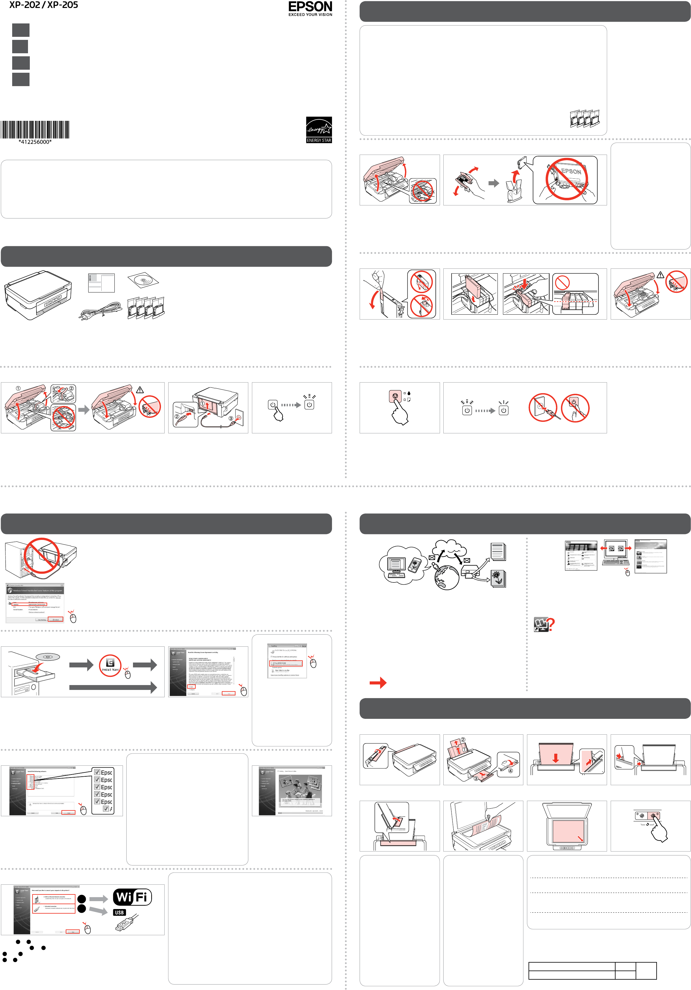 handleiding epson xp 202 pagina 1 van 2 deutsch english espan l fran ais italiano. Black Bedroom Furniture Sets. Home Design Ideas