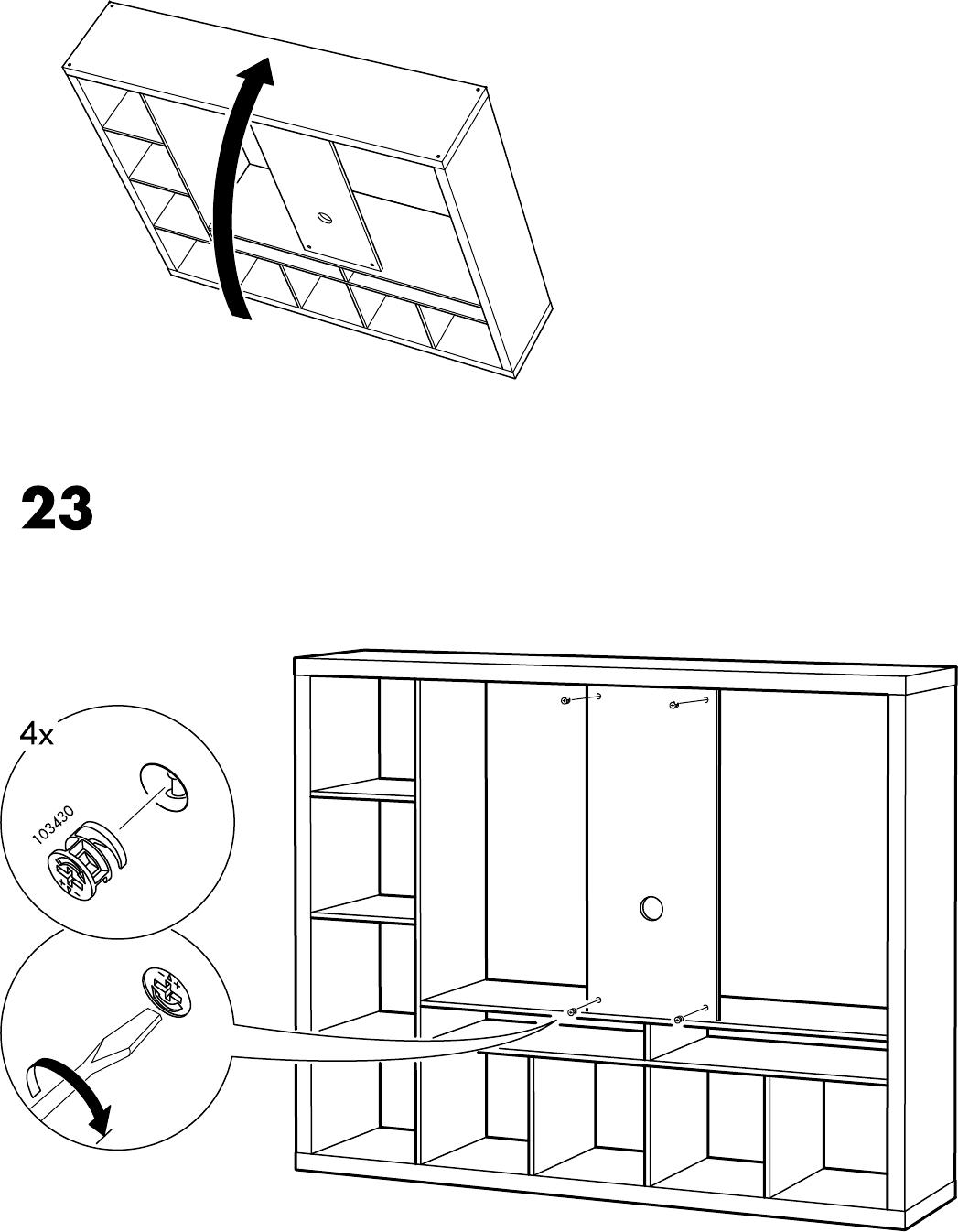 Expedit Tv Kast.Handleiding Ikea Expedit Tv Kast Pagina 22 Van 32 Alle Talen
