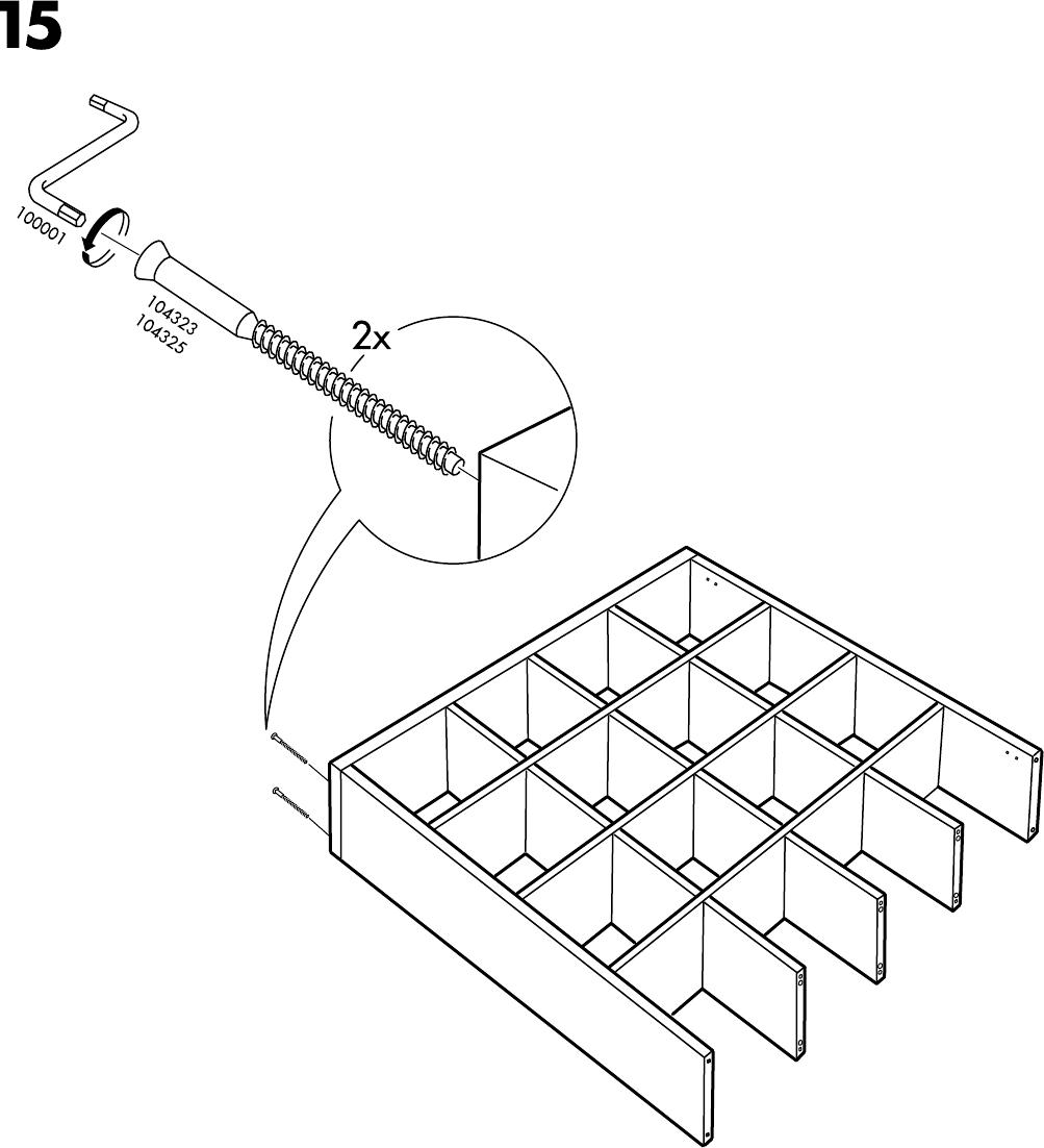 Schreibtisch Ikea Weiß Billig ~ Handleiding Ikea EXPEDIT Open kast (pagina 16 van 24) (Alle talen)