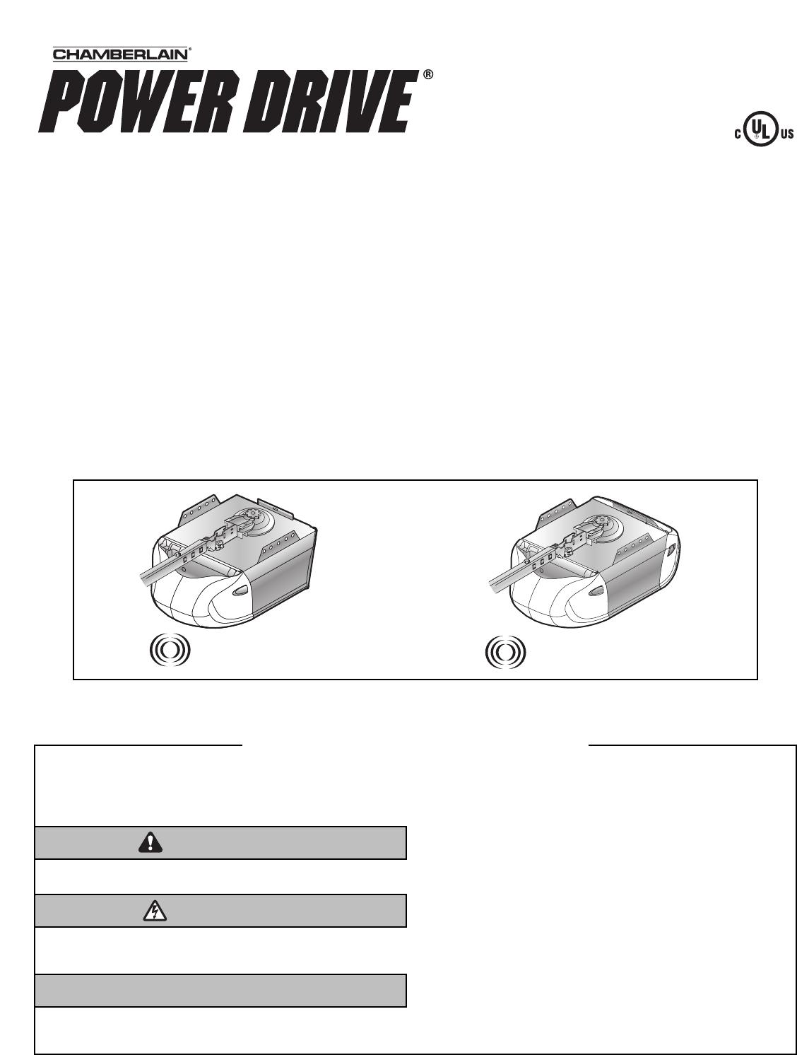 Handleiding Chamberlain Power Drive Pagina 1 Van 36 English Garage Door Opener Schematic