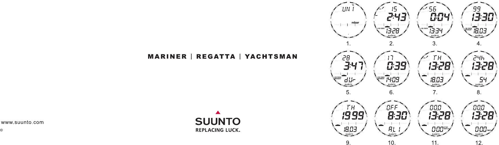 3 calibración de la brújula   suunto yachtsman user manual   page.