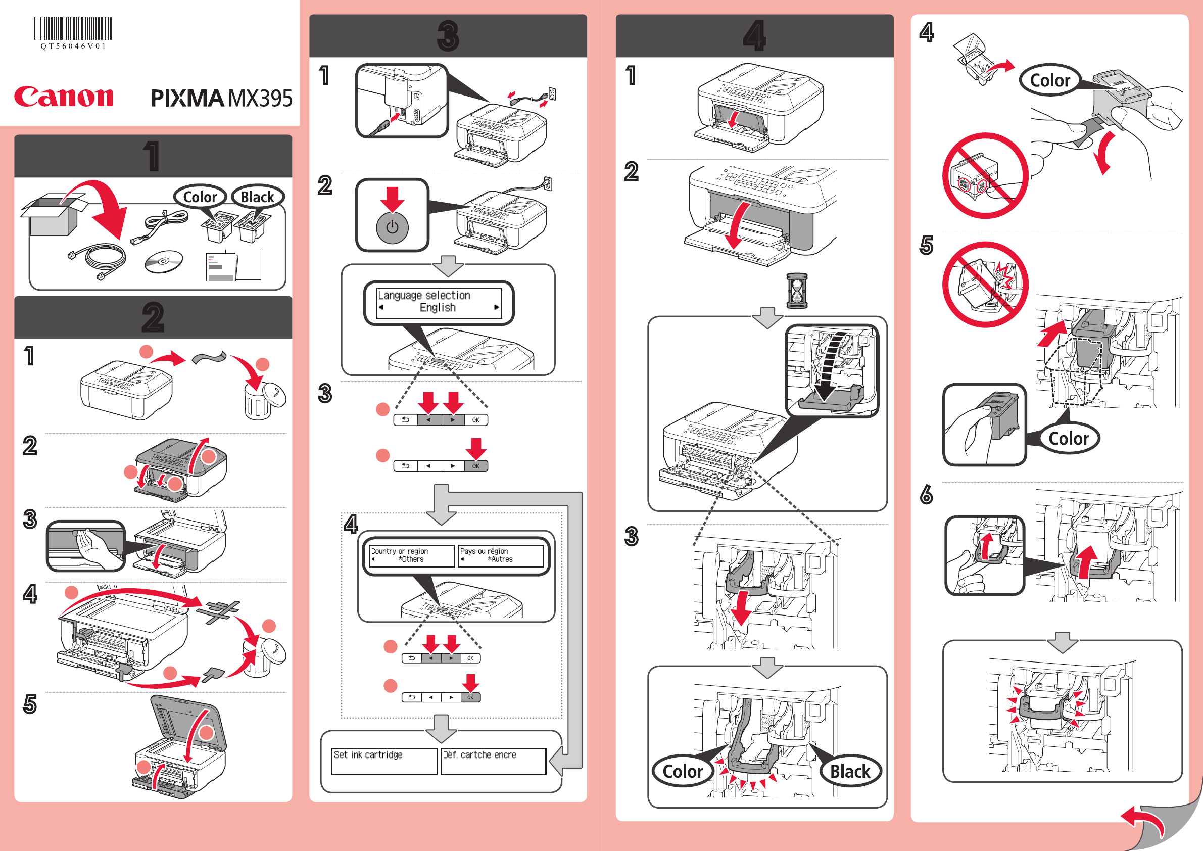 handleiding canon pixma mx 395 series pagina 1 van 2 alle talen. Black Bedroom Furniture Sets. Home Design Ideas