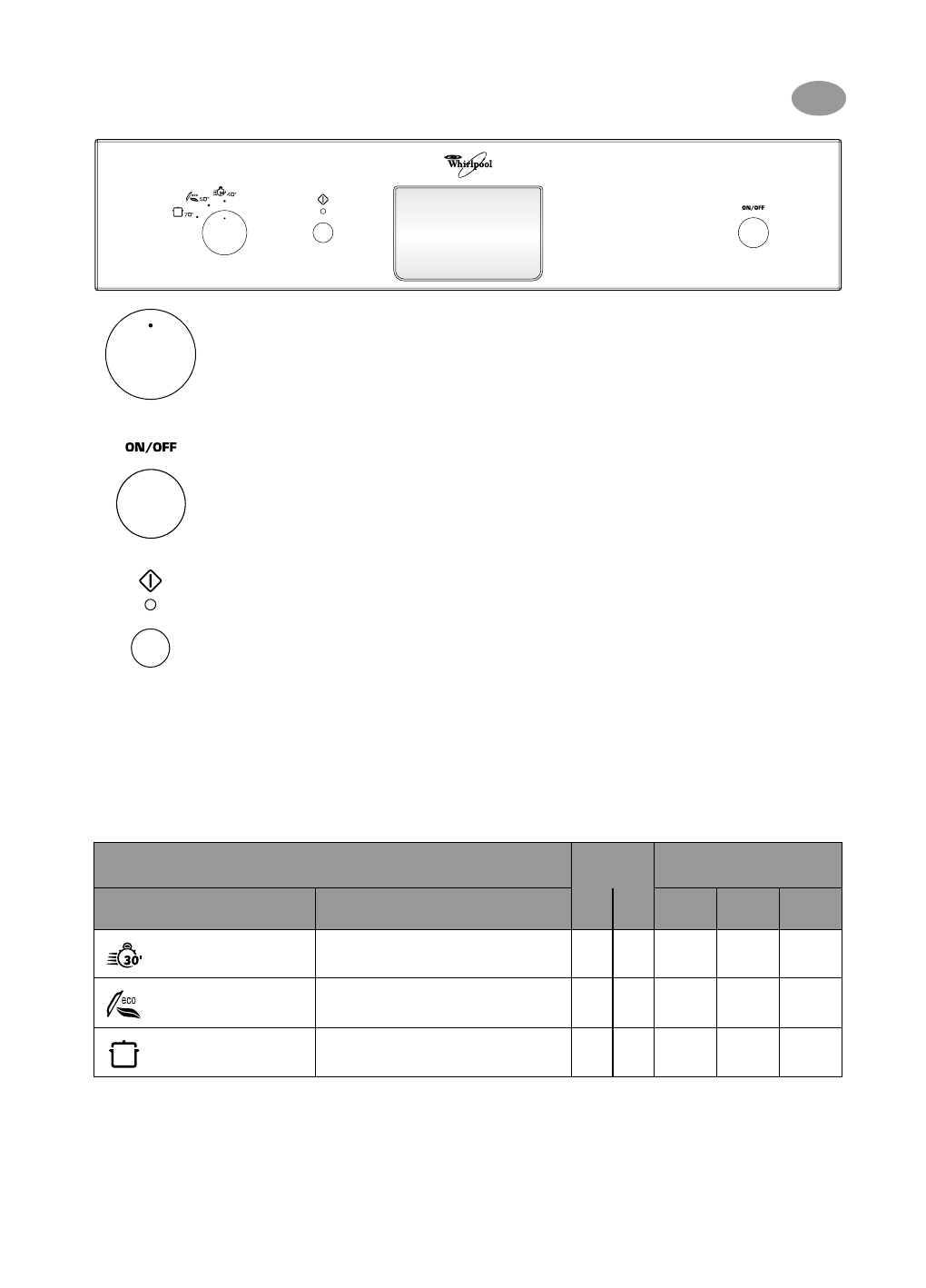 handleiding whirlpool adg 8315 nb wh pagina 1 van 4 deutsch. Black Bedroom Furniture Sets. Home Design Ideas