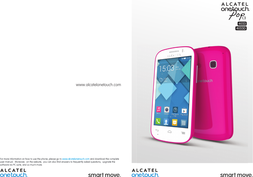 Handleiding Alcatel One Touch Pop C3 - 4033 (pagina 1 van 76) (English)