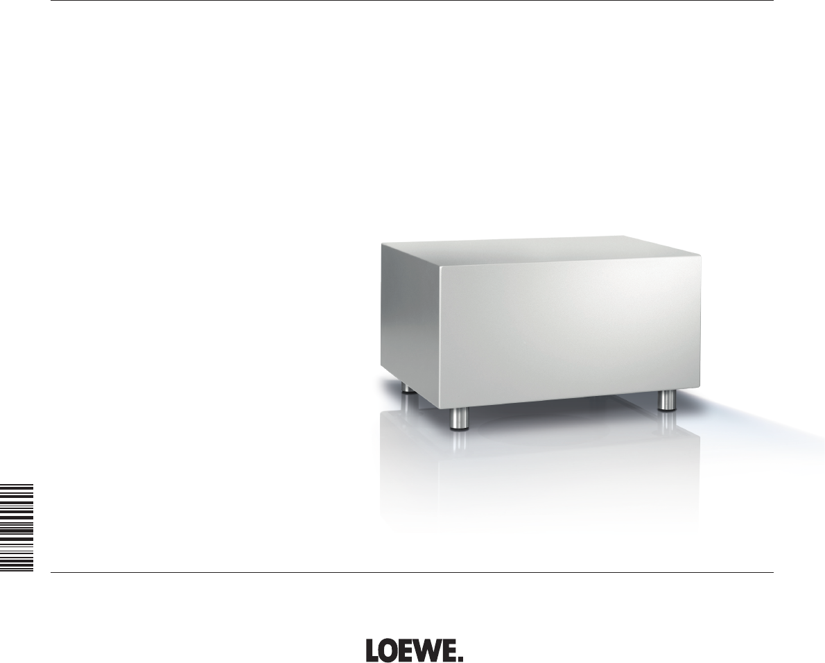 handleiding loewe subwoofer 525 pagina 1 van 62 dansk deutsch english espan l fran ais. Black Bedroom Furniture Sets. Home Design Ideas