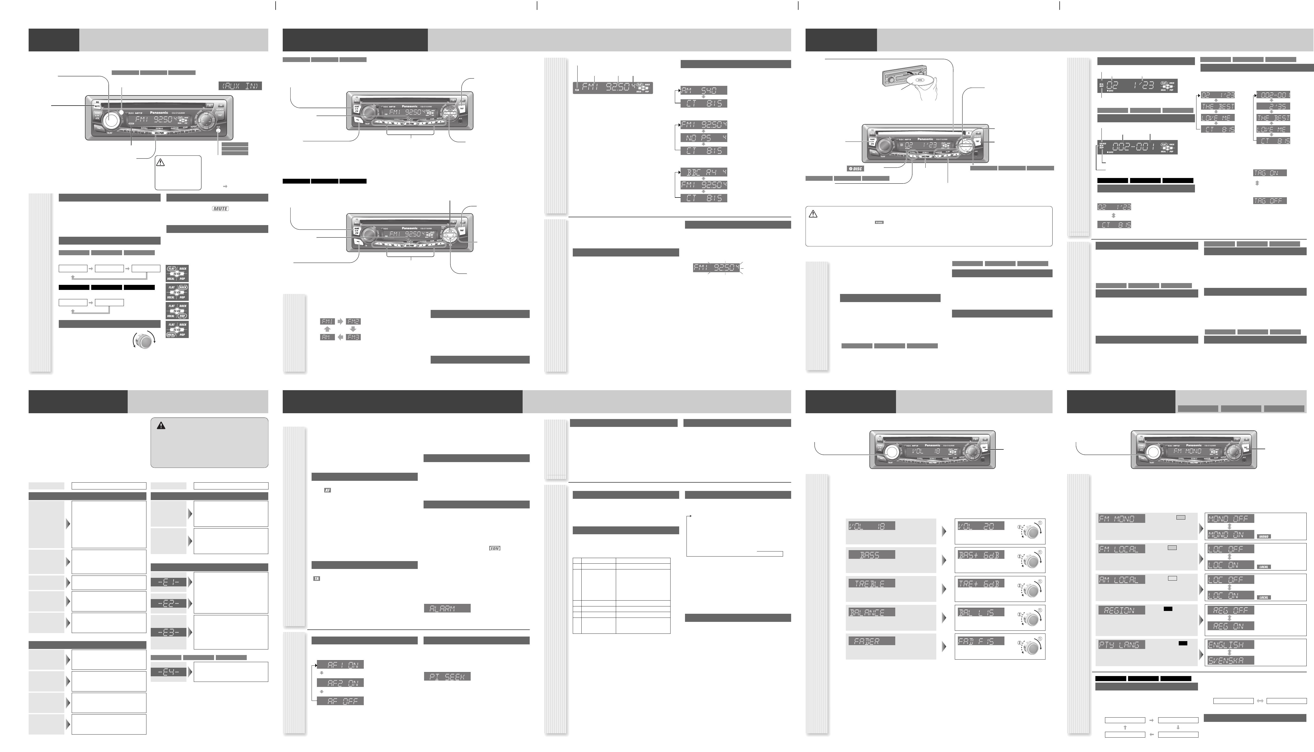 Handleiding Panasonic cq-c1303 (pagina 2 van 4) (English) on panasonic manuals, panasonic car stereo wiring, panasonic schematic diagram, panasonic parts, panasonic connectors diagram, panasonic help,
