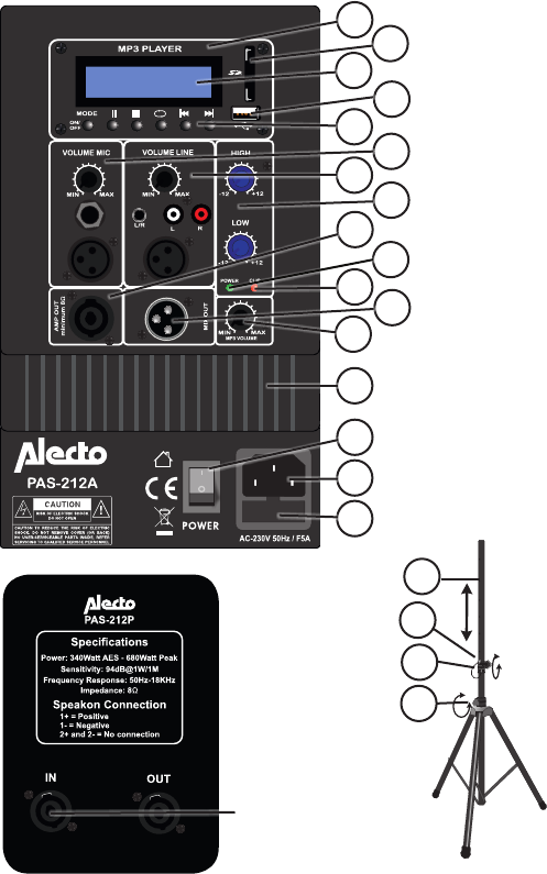 Handleiding Alecto PAS-212 (pagina 8 van 12) (Deutsch)