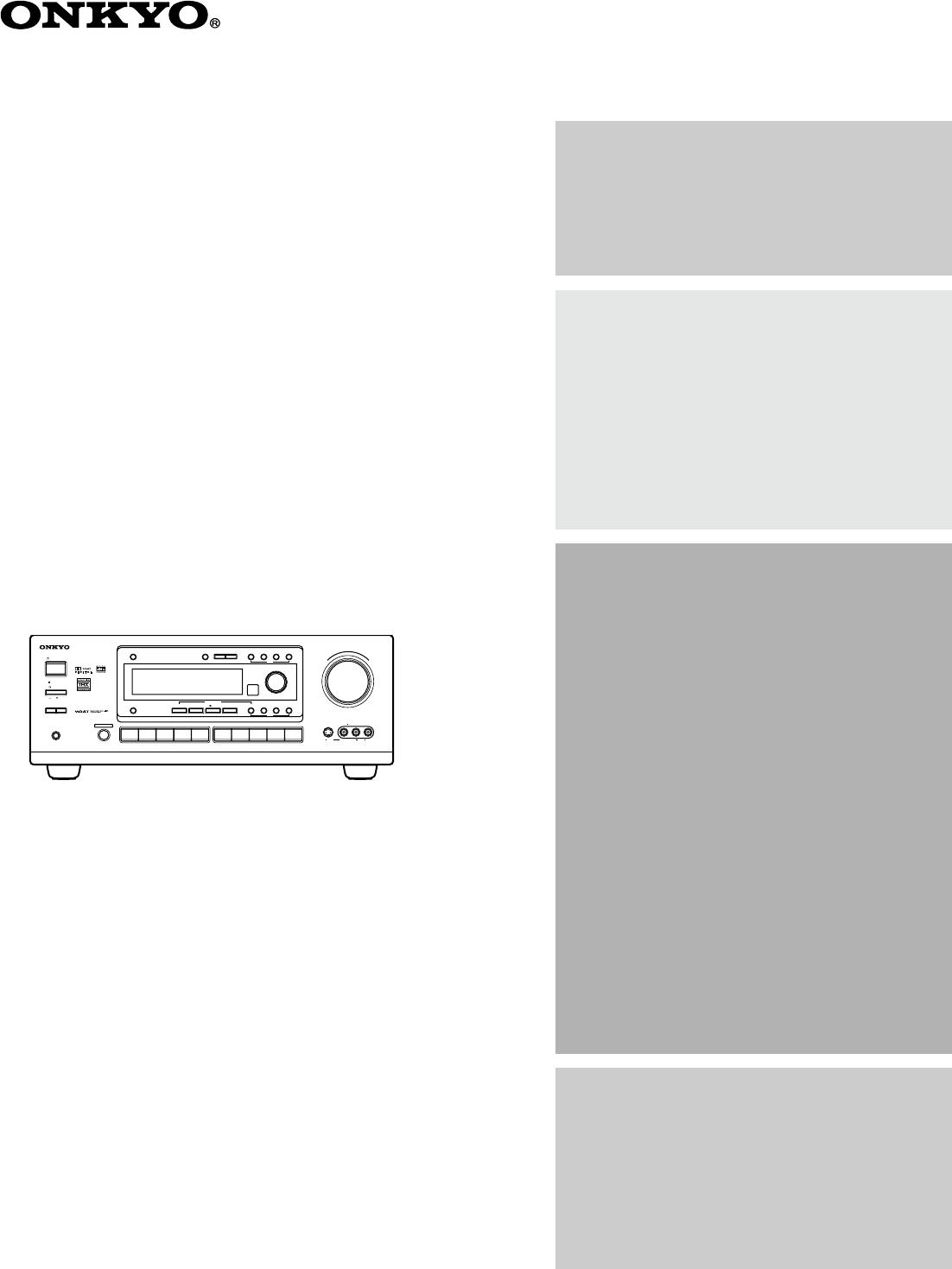 Handleiding Onkyo TX-DS676 (pagina 36 van 64) (English)
