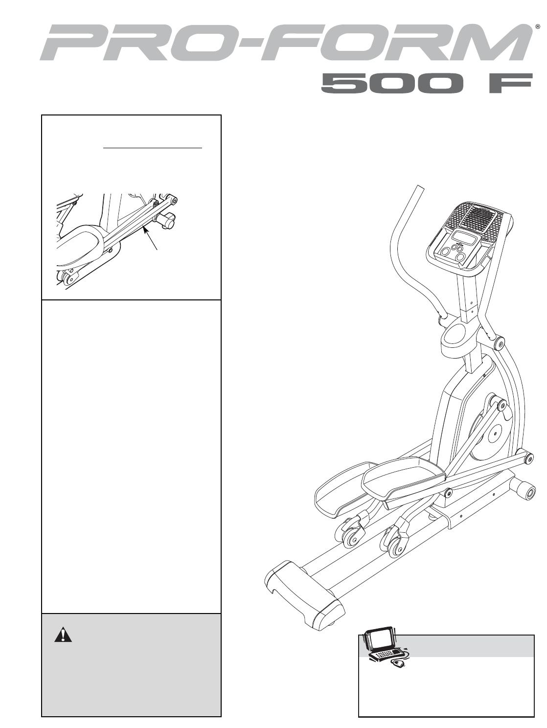 Handleiding Pro Form 500f Pfel54907 Pagina 1 Van 24 English Proform Treadmill Wiring Diagram Caution