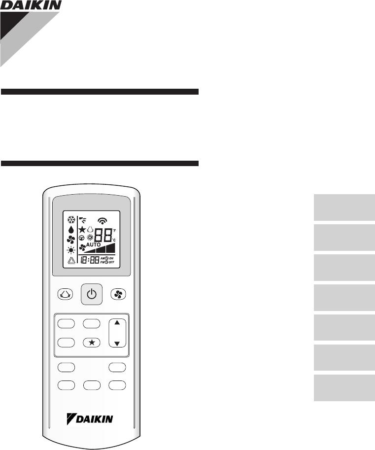 handleiding daikin gs02 remote control pagina 1 van 48. Black Bedroom Furniture Sets. Home Design Ideas