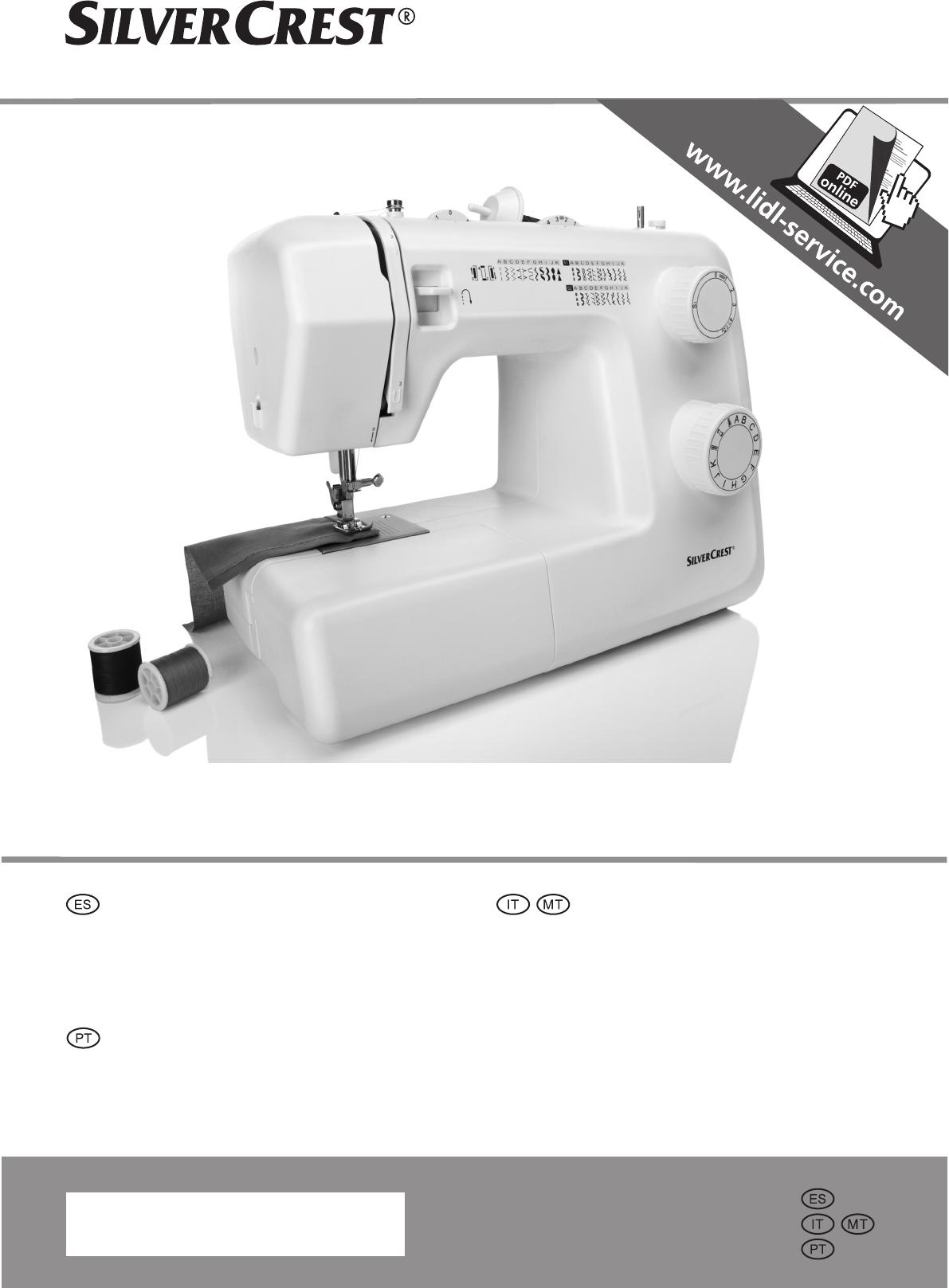 Handleiding silvercrest snm 33 b1 pagina 1 van 72 for Silvercrest macchina da cucire