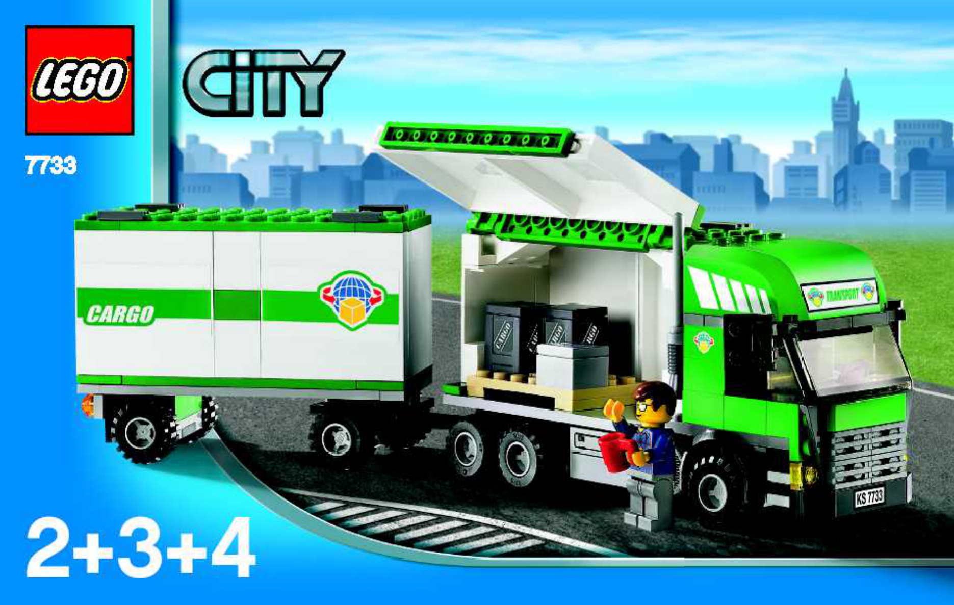 handleiding lego lego city cargo truck forklift 77332