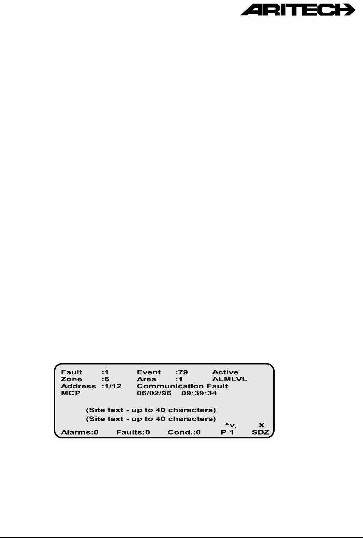 handleiding aritech fp1200 pagina 18 van 21 english rh gebruikershandleiding com Aritech Corp aritech fp 1200 manual