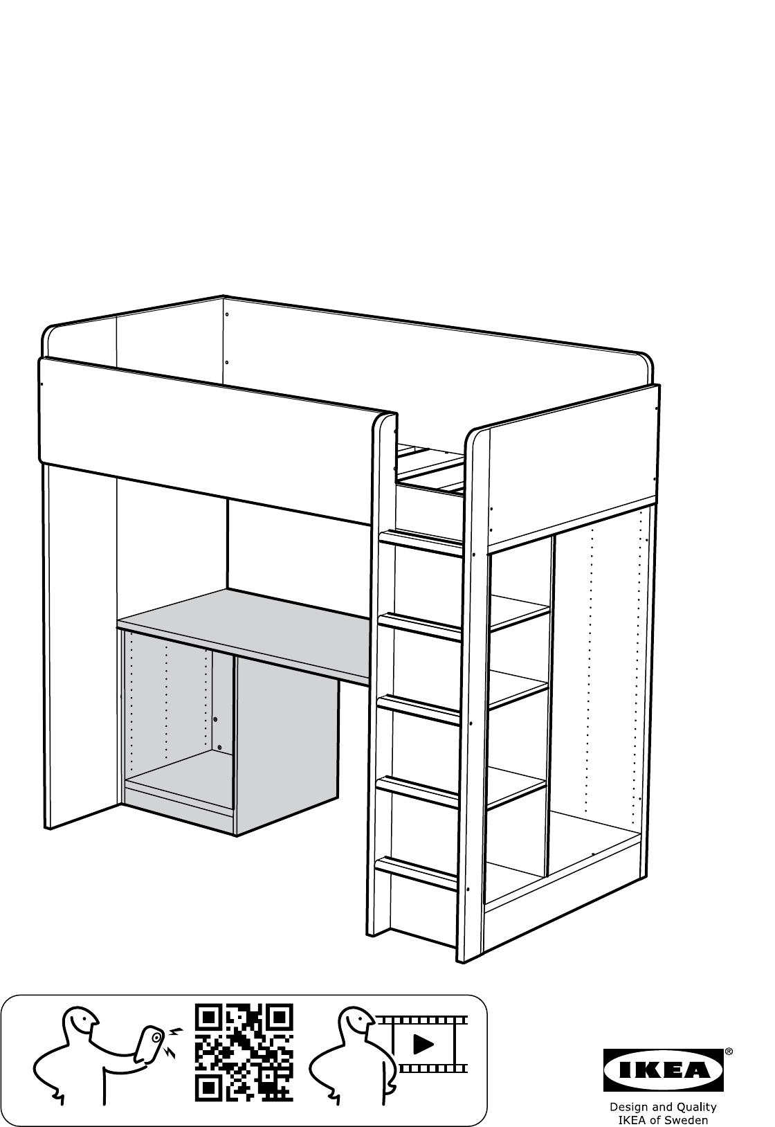 Welp Handleiding Ikea STUVA hoogslaper (pagina 1 van 20) (Alle talen) PA-38
