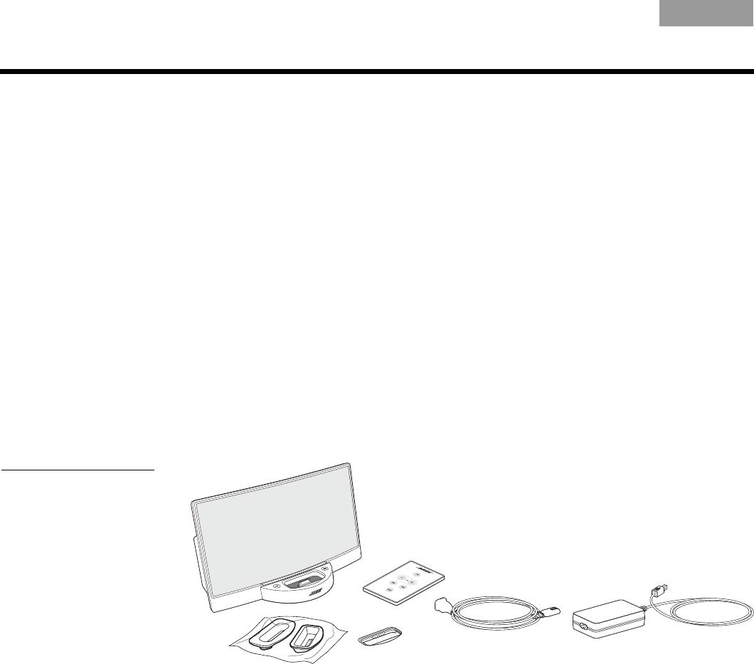 handleiding bose sounddock original pagina 1 van 12 english Bose Sirius Xm 4