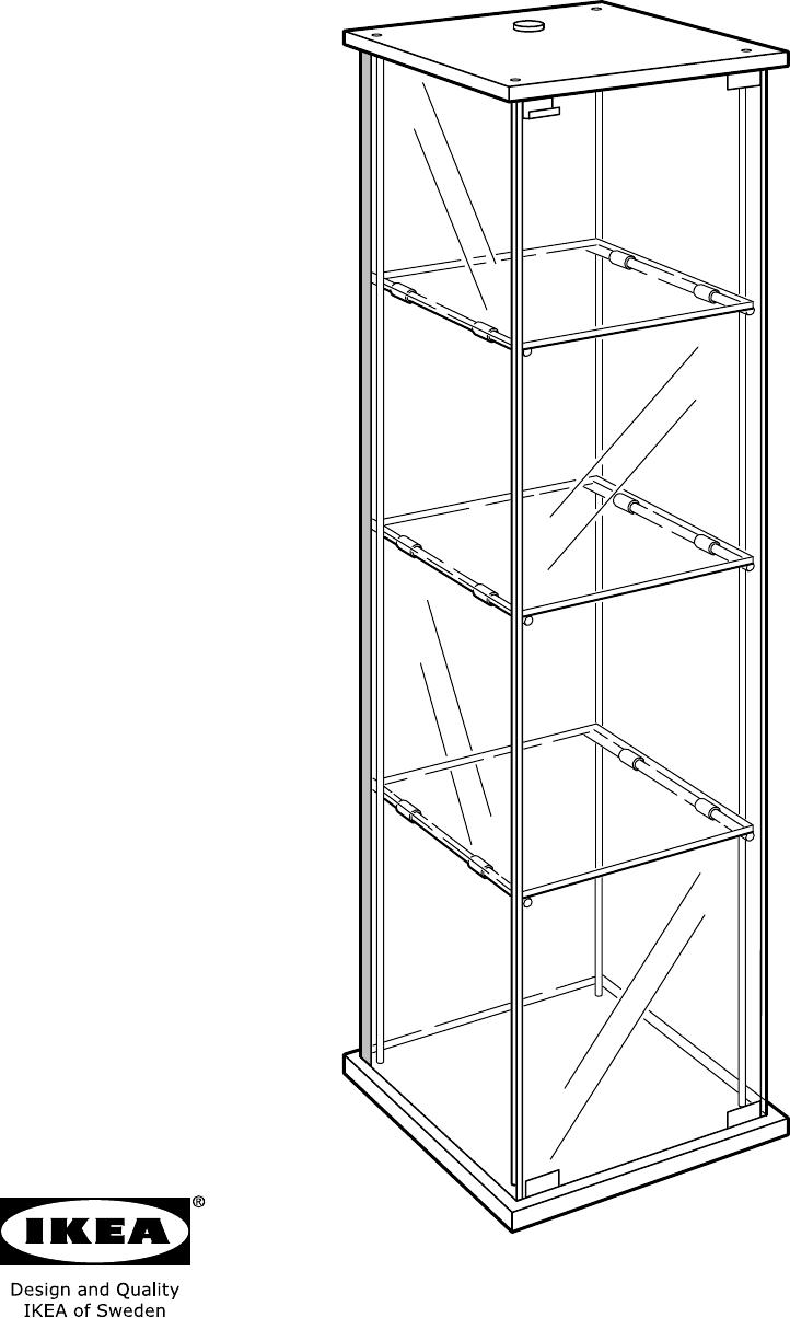 handleiding ikea detolf vitrinekast pagina 1 van 24 alle talen. Black Bedroom Furniture Sets. Home Design Ideas