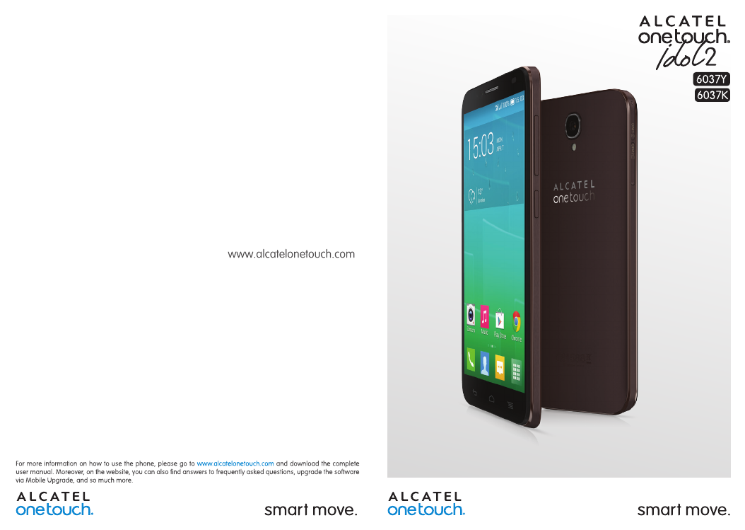 Handleiding Alcatel ONE TOUCH 6037K - Idol 2 (pagina 1 van 75) (English)