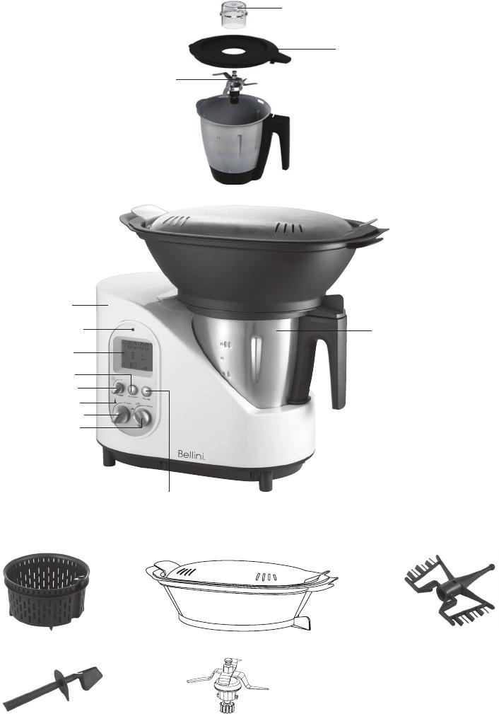 Handleiding Bellini Btmkm510w Intelli Kitchen Master Pagina 7 Van 16 English