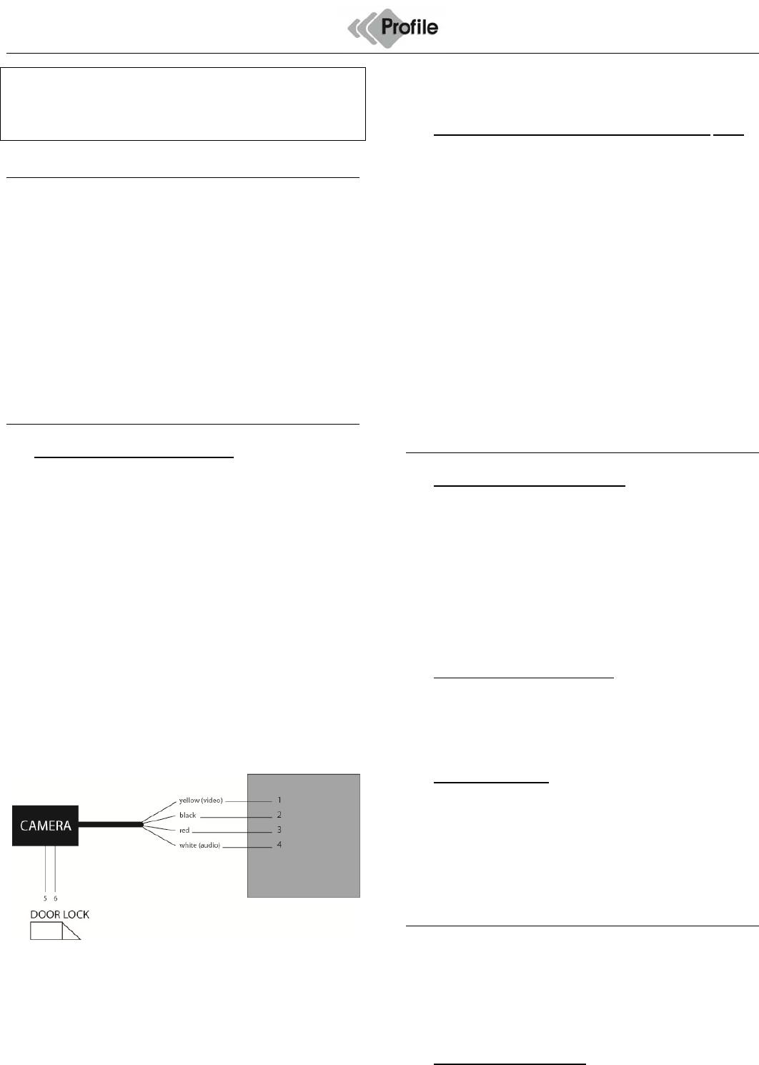 Handleiding Profile PAC-114 Design multi Videophone (pagina 3 van 20 ...
