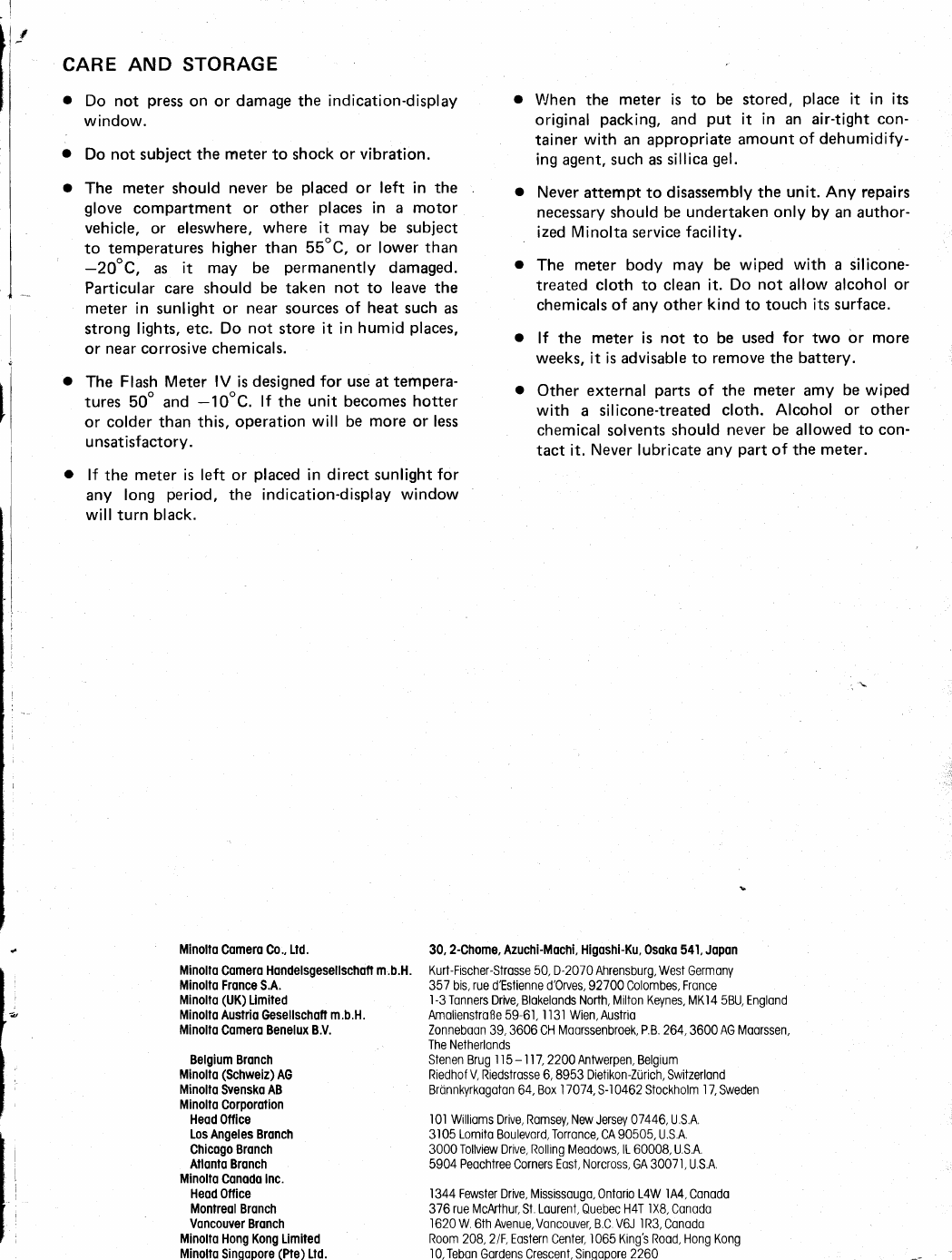 Handleiding Minolta Flash Meter IV (pagina 42 van 44) (English)