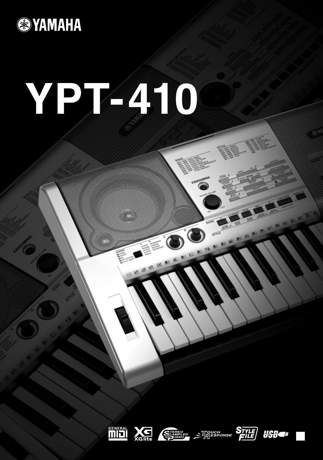 Yamaha YPT-410. Email deze handleiding ...