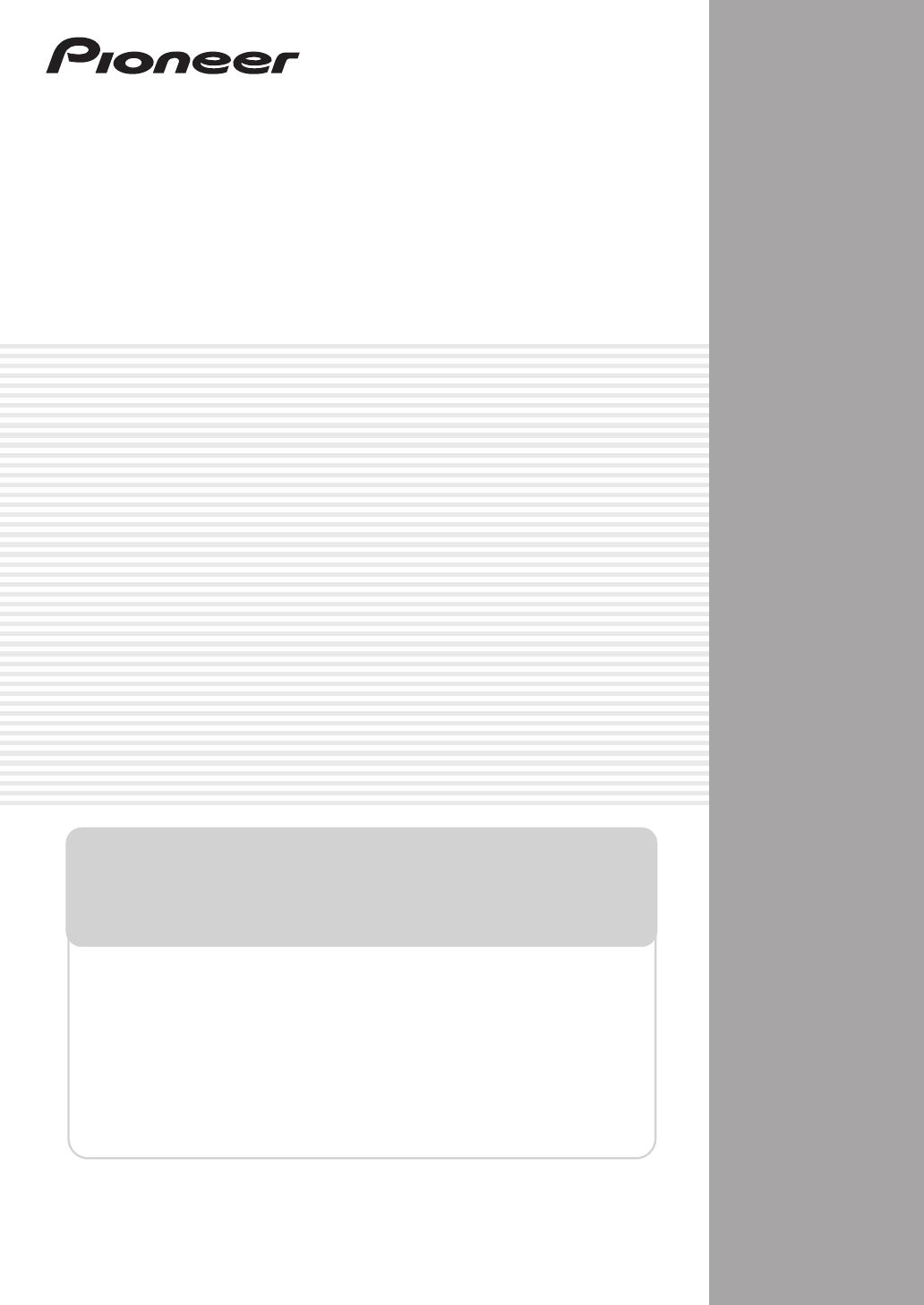 handleiding pioneer vsx 9130txh k pagina 78 van 104 english rh gebruikershandleiding com Pioneer VSX Receiver Pioneer VSX 1122 K
