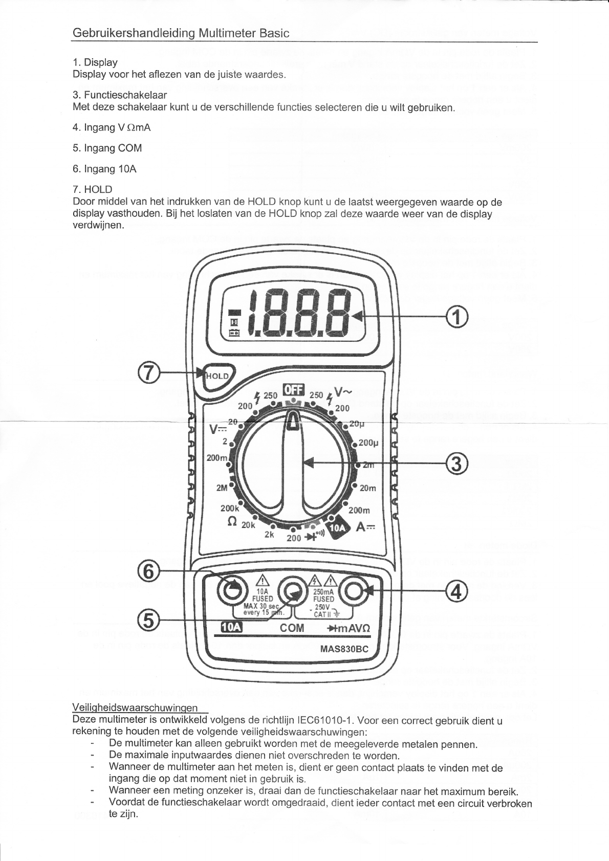 handleiding mastech mas830bc  pagina 1 van 2   nederlands
