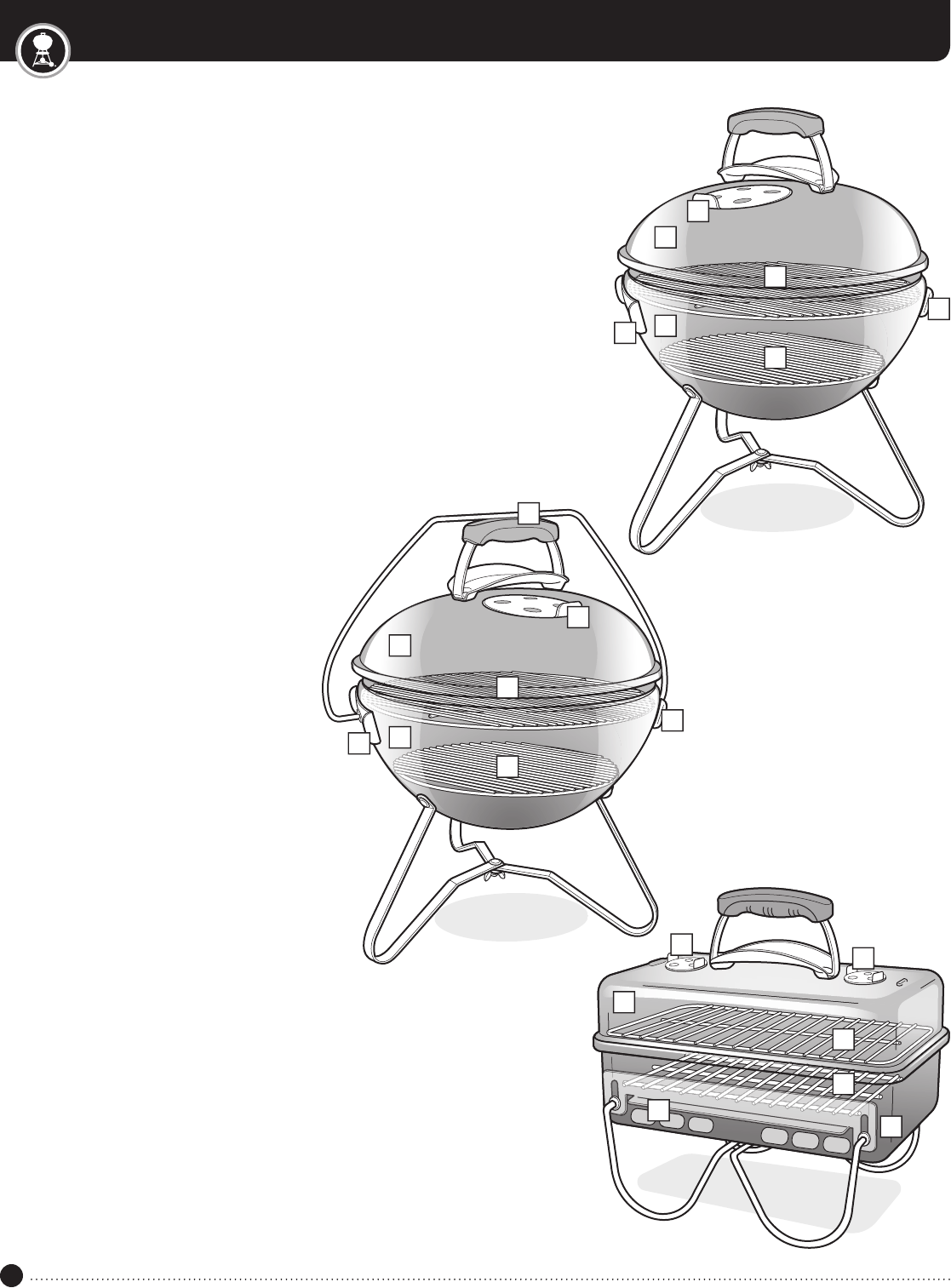 Manual Weber GO ANYWHERE CHARCOAL GRILL (page 8 of 8