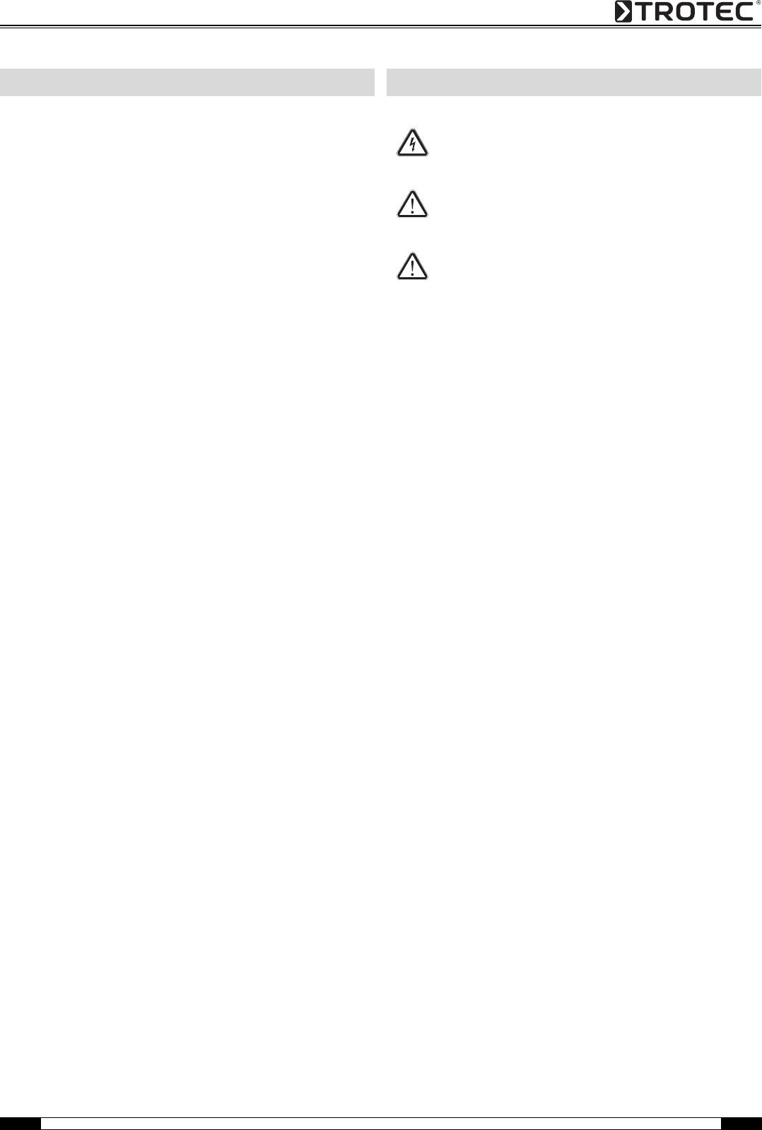 Handleiding Trotec DH 30 AX (pagina 1 van 21) (Deutsch)