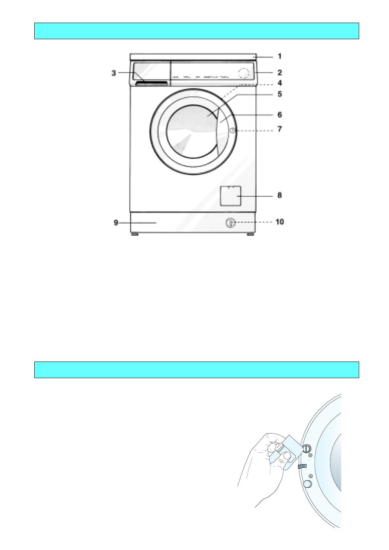 handleiding bauknecht wa 1400 symphony pagina 5 van 18. Black Bedroom Furniture Sets. Home Design Ideas