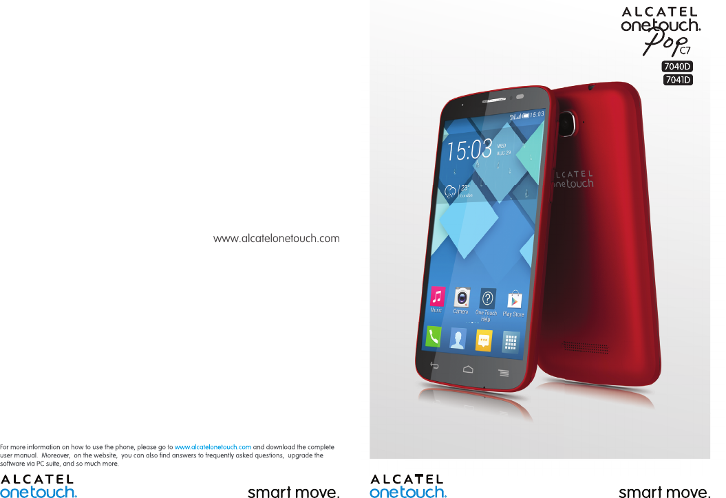 Handleiding Alcatel One Touch Pop C7 -7041D (pagina 1 van 75) (English)