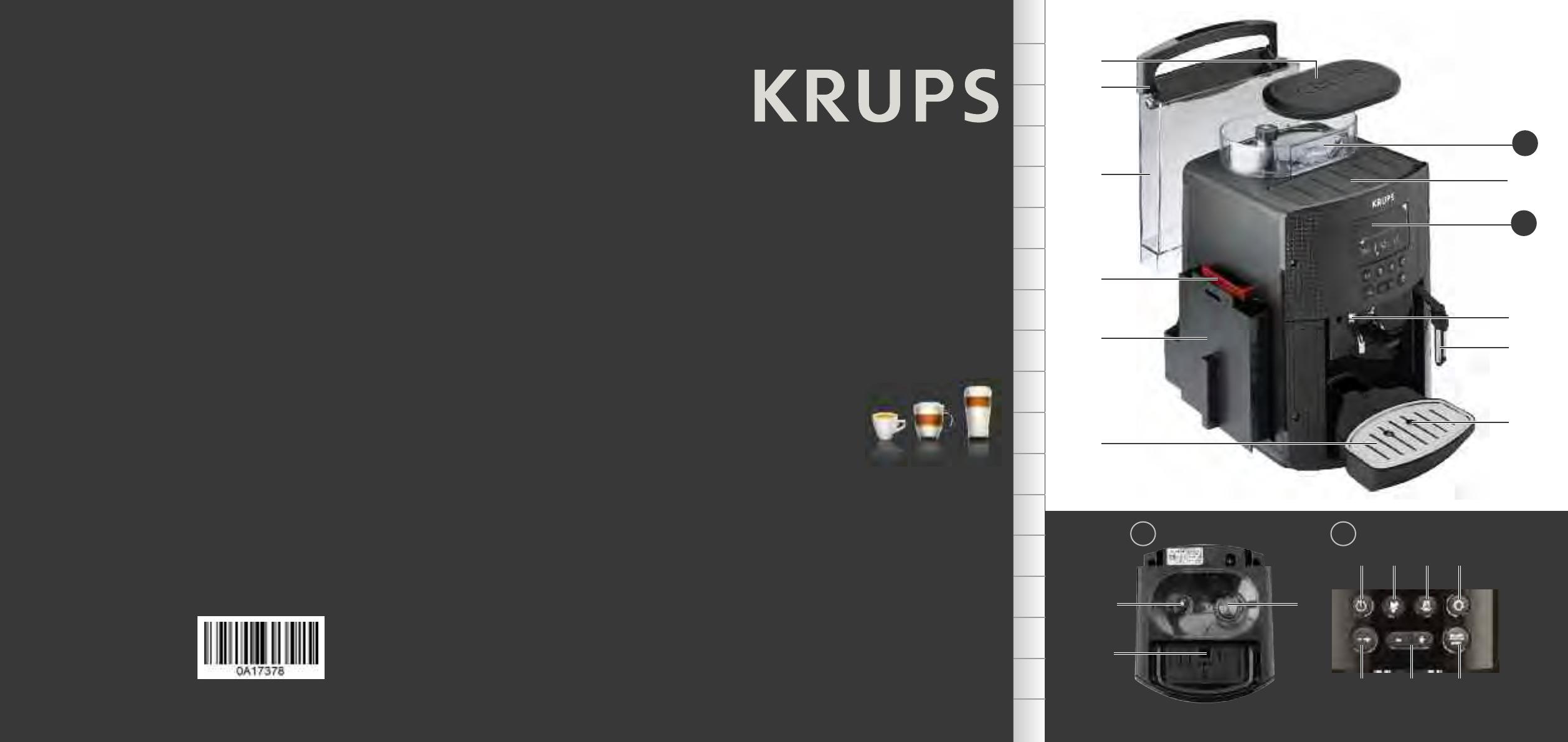Ea8150pagina 43deutschEnglish Krups 17 Handleiding Van c3R5Lq4AjS